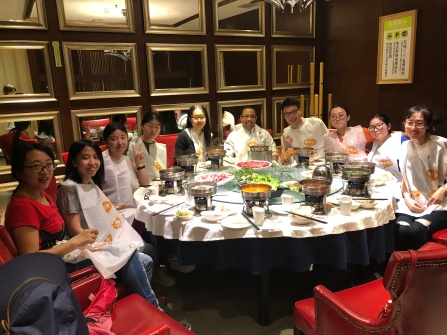 The Welcome Dinner with Prof. Wei Chen's group at CIAC